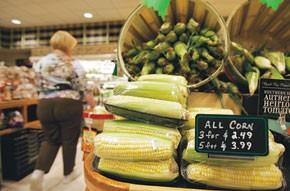Rising food prices have taken dollars away from apparel budgets.