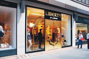 The Liberty of London store.