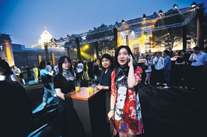 Scenes from the Shanghai Tang event at Beijing's Legation Quarter, which is trying to become the city's luxury center.