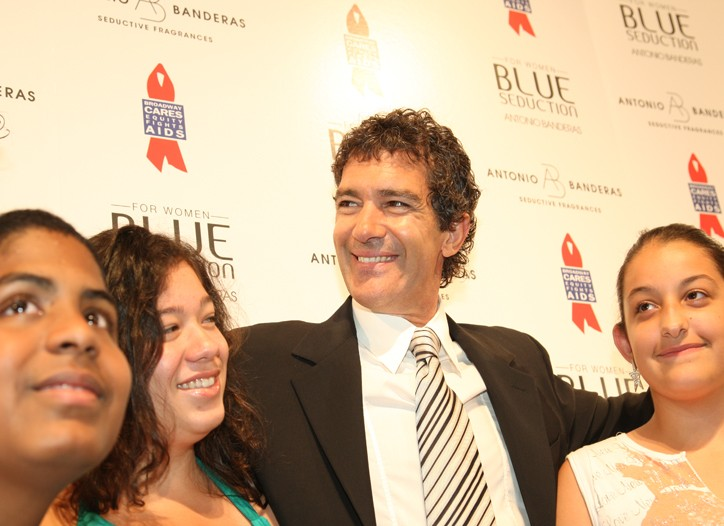 Antonio Banderas with children for House of the Roses.