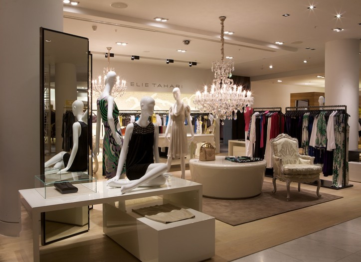 The Elie Tahari shop at Selfridges.