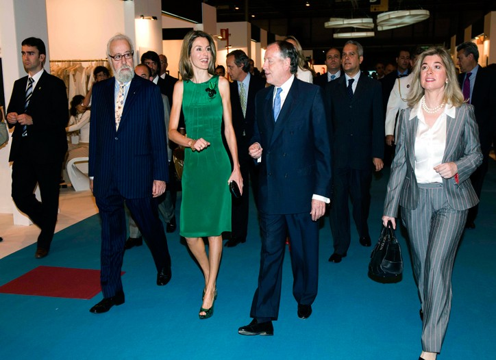 Letizia, princess of Asturias, inaugurated the SIMM apparel fair in Madrid.