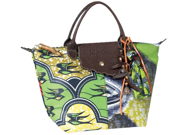 Longchamp's African Pilage bag for the holiday season.