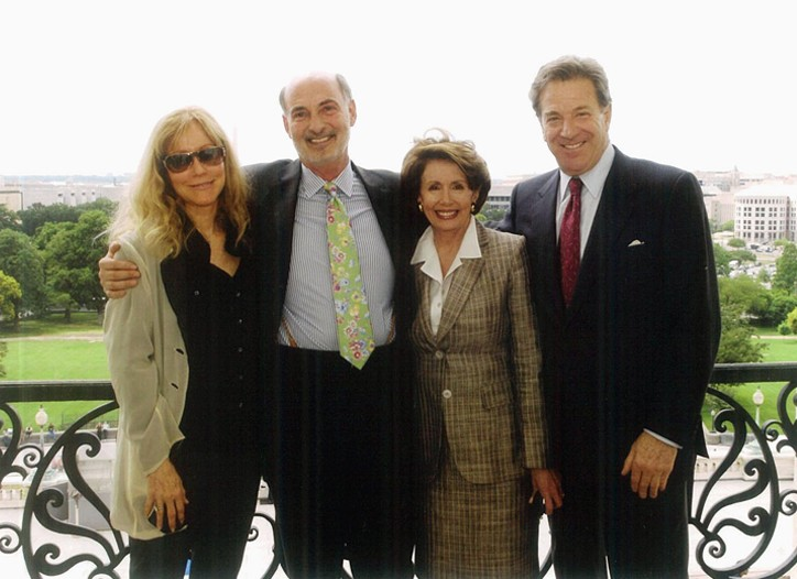 Mary Green with her husband, Steven Swig, and Nancy and Paul Pelosi.