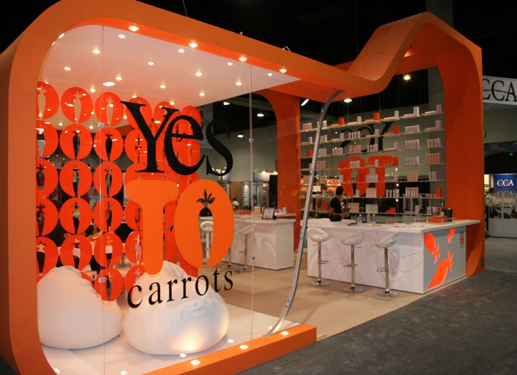 Yes to Carrots was a popular booth at NACDS.