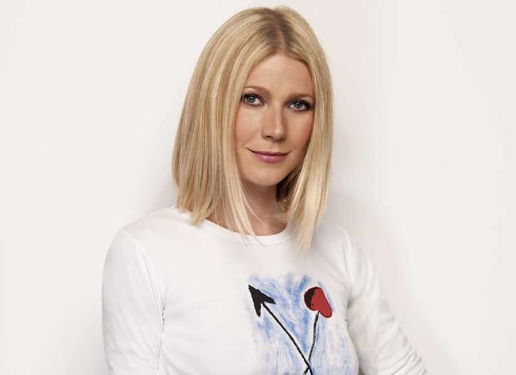 Gwyneth Paltrow wearing the Karl Lagerfeld designed T-shirt.