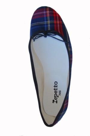Repetto's tartan slipper for Colette.