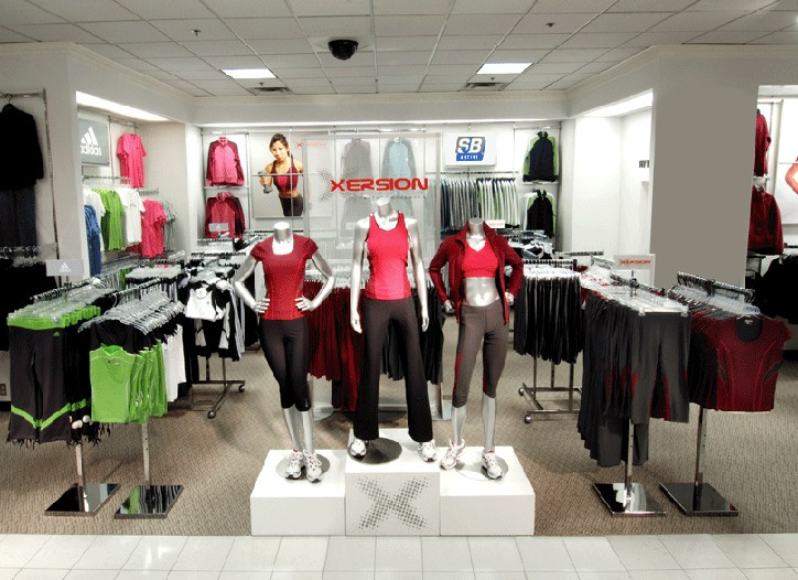 J.C. Penney set up an Xersion shop at its store in Lewisville, Tex. prior to the official launch of the label.