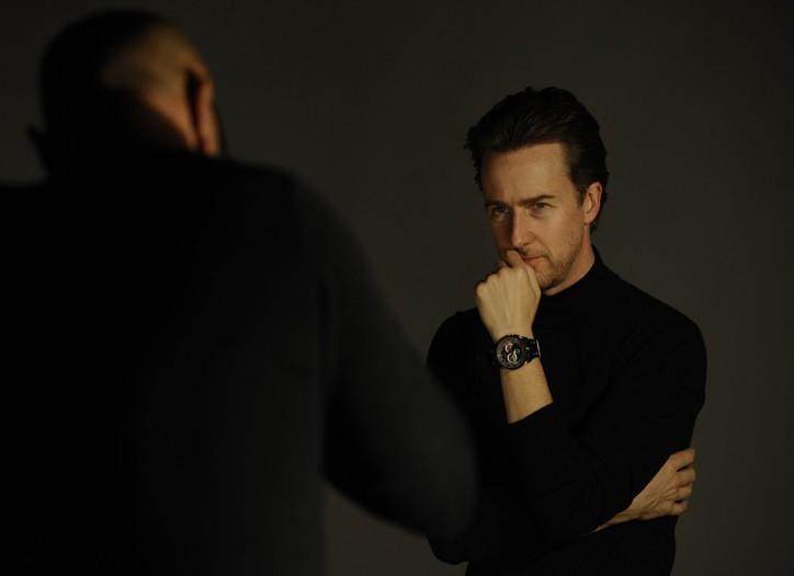 Ed Norton in the Breil Milano ad campaign.