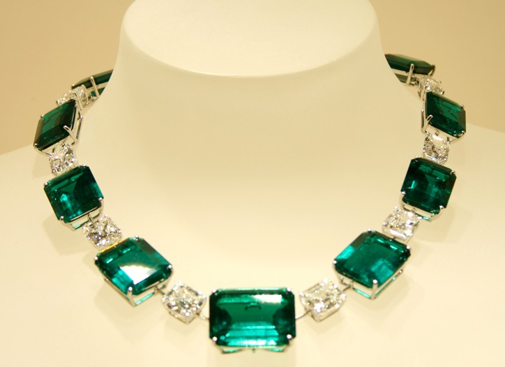An emerald necklace by Graff.