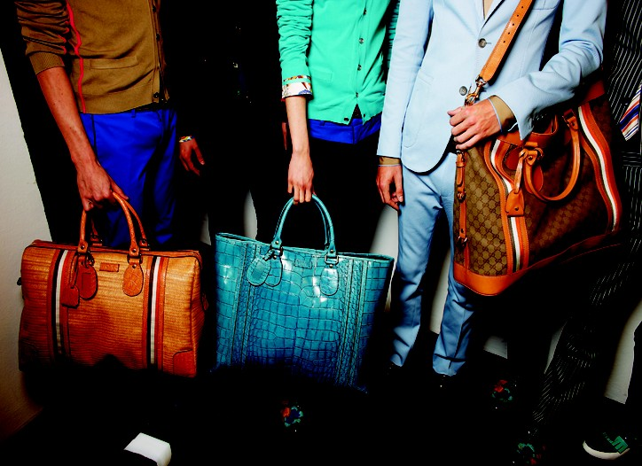 Gucci?s ocean blue croc tote is perfectly roomy and practical?and also quite slickly posh.