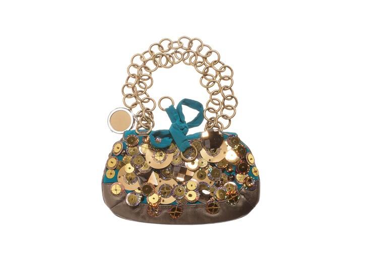 A Jamin Puech beaded and ruched handbag.
