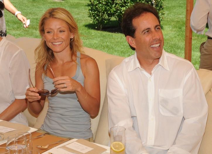 Kelly Ripa and Jerry Seinfeld