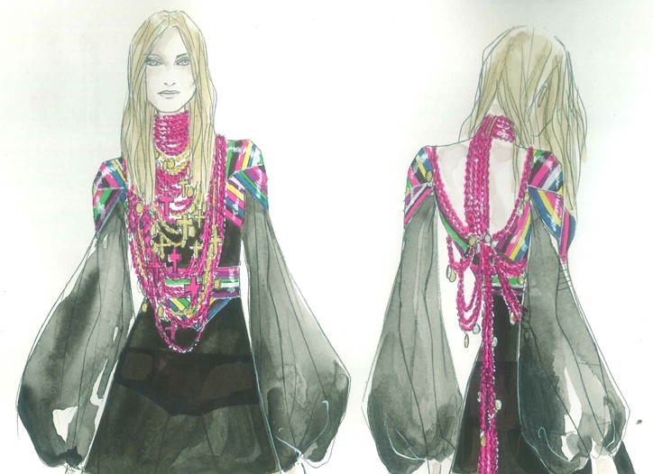 Givenchy's gypsy outfit.