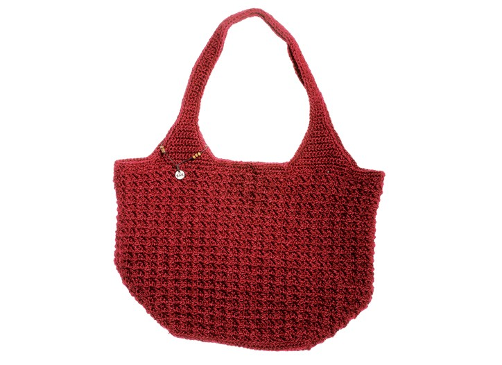Sakroots, a new collection celebrating The Sak?s most famous crocheted shapes from the Nineties, includes totes and hobos in colors such as wine and navy.
