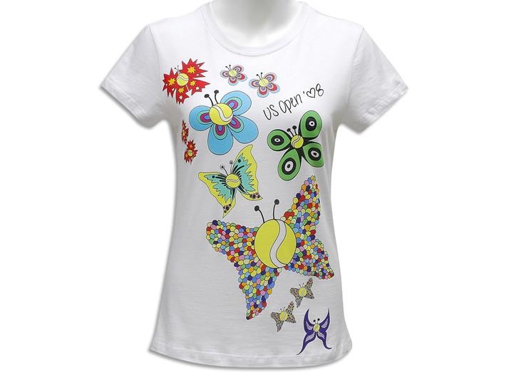 A Heidi Klum's U.S. Open T-shirt design.