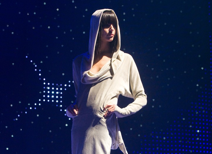 Marc Jacobs' hooded gown.