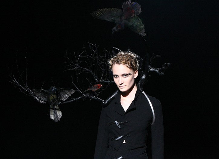 A look from Yohji Yamamoto's Y's Red Label.