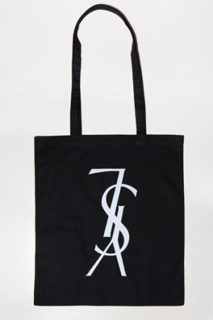 The limited-edition YSL tote, with purposely upside-down logo.