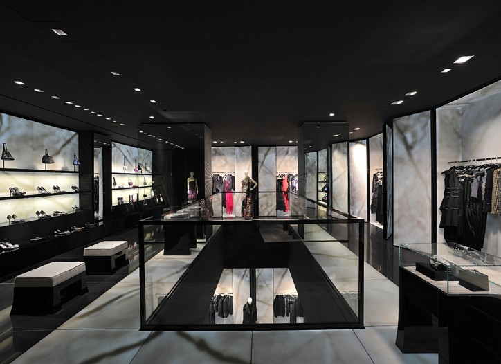 The new Armani boutique in Milan.