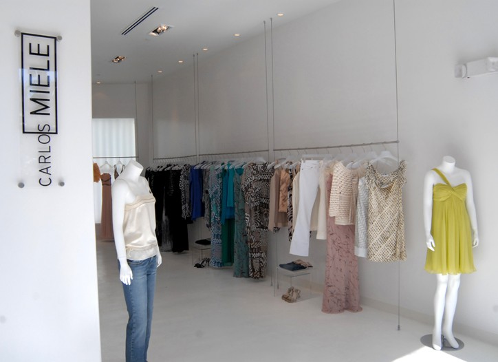 The new Carlos Miele store in Miami. The store features apparel and accessories.