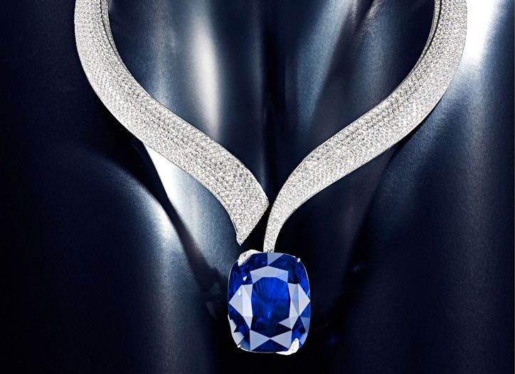 Chopard's new diamond and sapphire necklace.