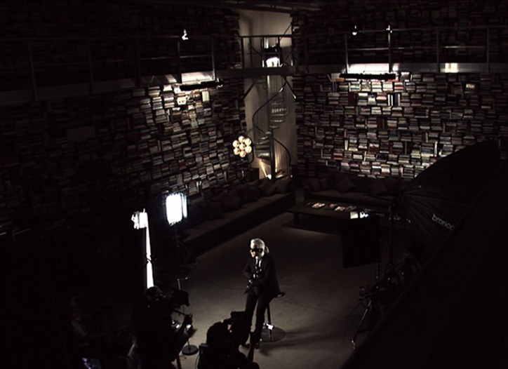Lagerfeld's library of 50,000 books.