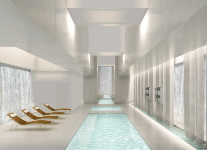 A rendering of the Lapis Spa.