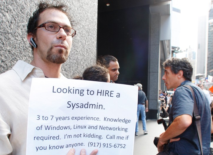 Seeking employees outside Lehman Brothers.
