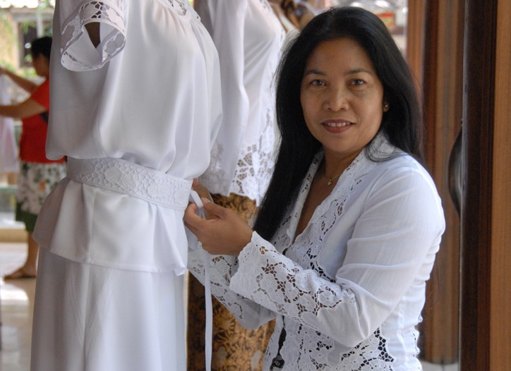 Ni Made Jati, Balinese designer and owner of the Uluwatu brand.