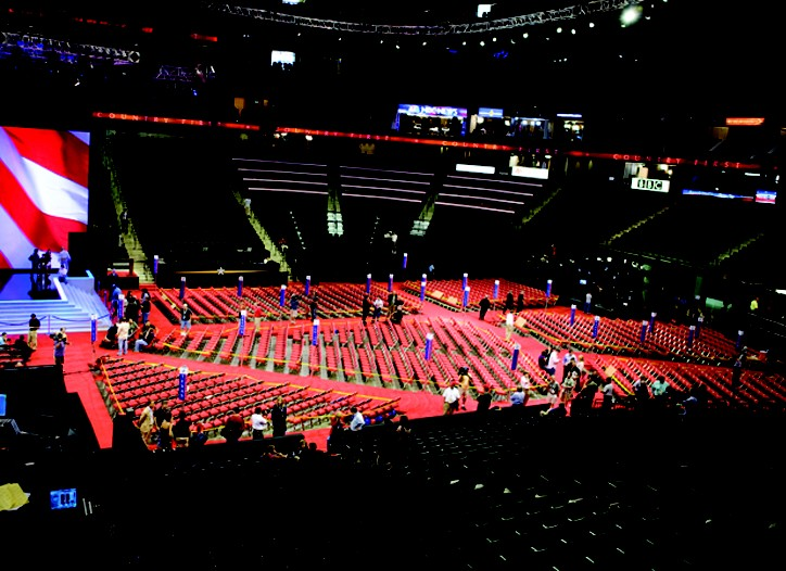 The scene at the Republican National Convention.