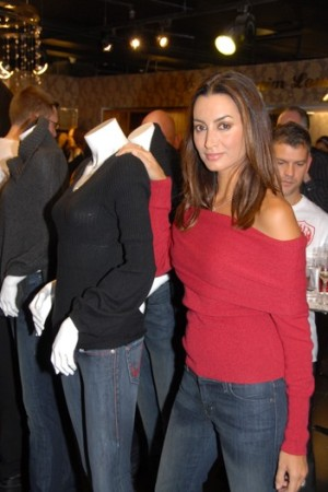 Maria Buccellati at the launch of Rock & Republic's nascent makeup line at Harrods.
