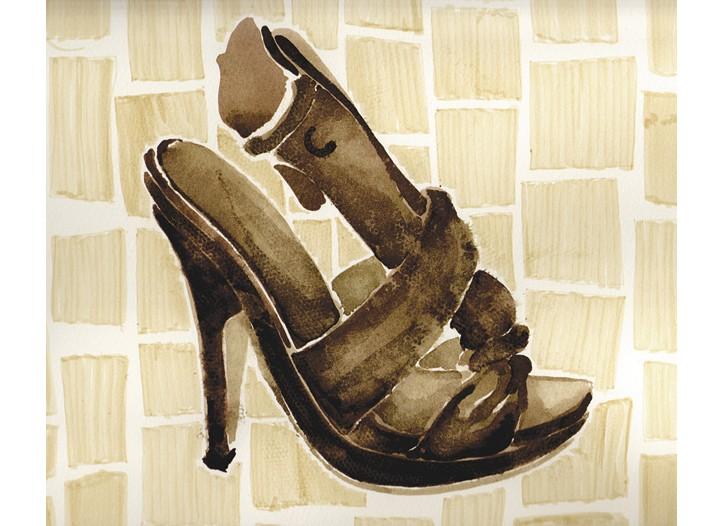 A sketch of a Pringle shoe designed by Sigerson Morrison.