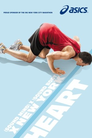 Asic's ad campaign for the NYC Marathon.