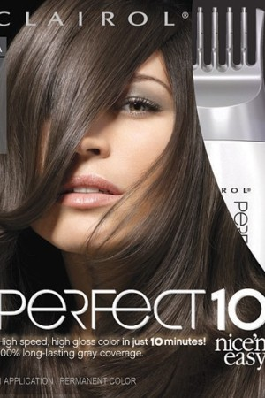 Clairol's Perfect 10 Nice 'n Easy ad.
