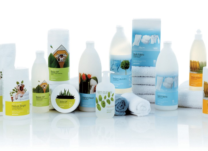 Shaklee cleaning products.