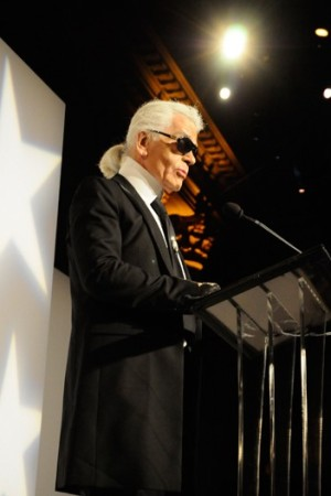 Karl Lagerfeld at the Night of Stars.