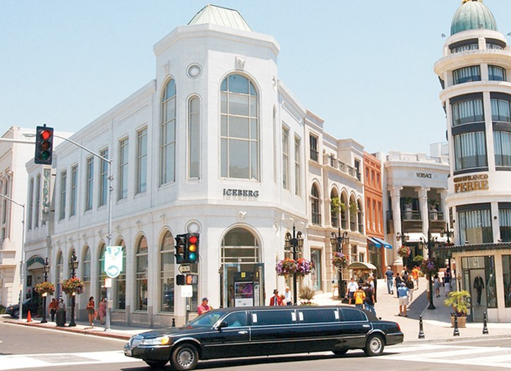 Shopping on Rodeo Drive.