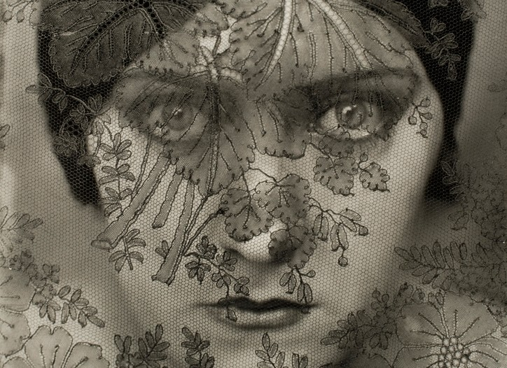 From Vanity Fair's exhibition, a photo of Gloria Swansoan by Edward Steichen.