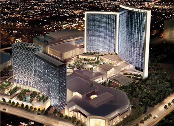 A rendering of the Echelon in Las Vegas, which is on hold.