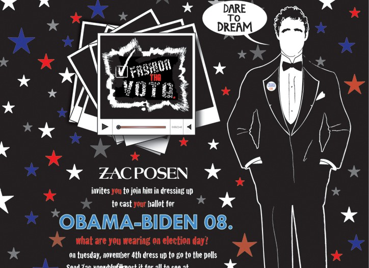 Zac Posen on the fashionthevote.org Web site.