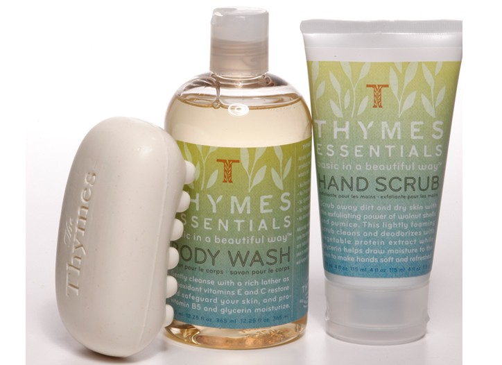 Items from the Thymes Essentials line.