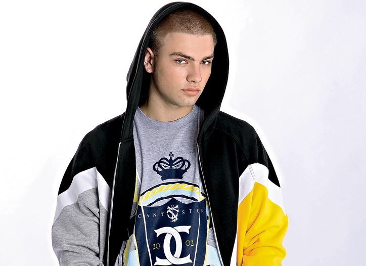 Cotton hoodie and T-shirt by CROOKS & CASTLES, cotton jeans by WeSC.