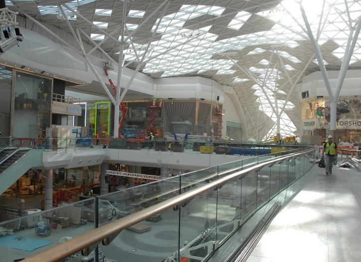 Westfield London's new shopping center.