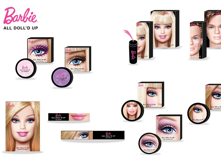 Barbie-branded beauty products for women.