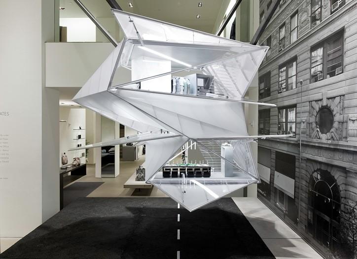 The Calvin Klein Collection window installation.