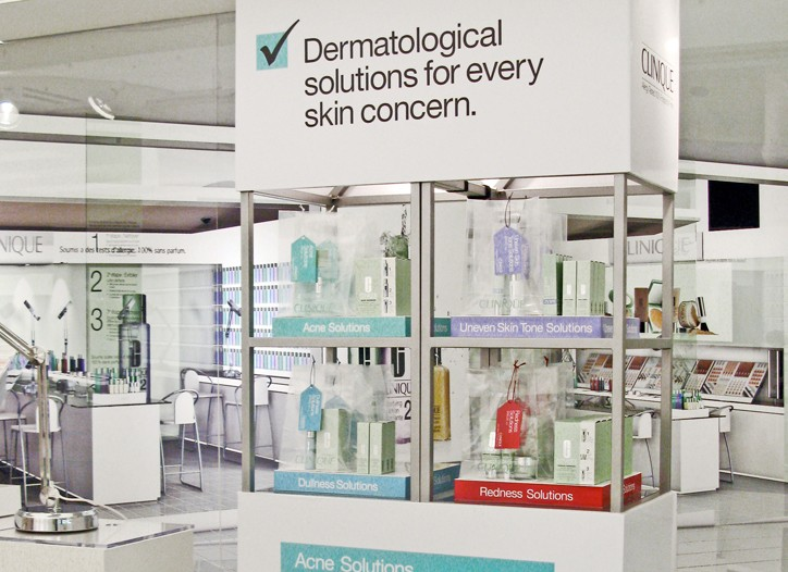 Clinique's new display tower.