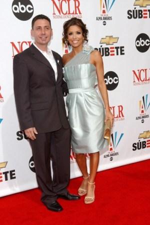 Gustavo Cadile and Eva Longoria Parker, in one of his designs.