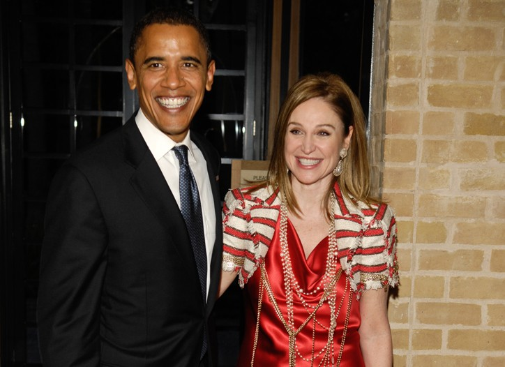 Barack Obama with Becca Cason Thrash in July.