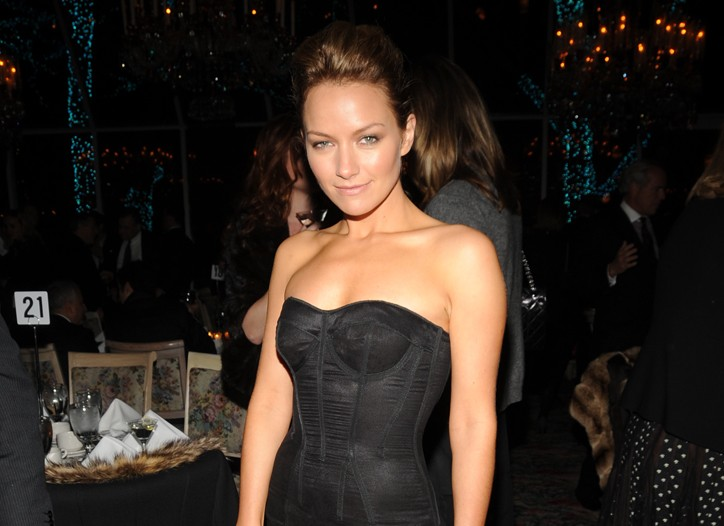 """Becki Newton at the premiere of the latest James Bond flick, """"Quantum of Solace""""."""
